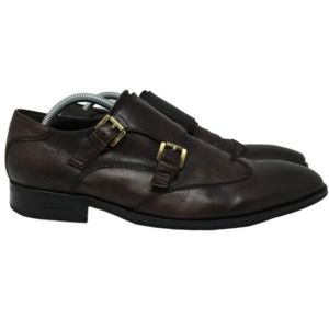 Kenneth Cole Burning Oil Double Monk Strap Oxfords